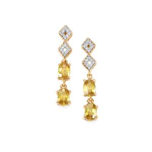 Ambilobe Sphene & Diamond 18K Gold Tomas Rae Earrings MTGW 2.33cts