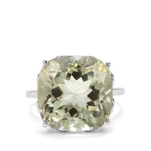12.72ct Prasiolite Sterling Silver Ring