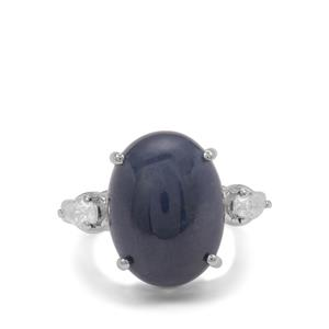 Bharat Sapphire Ring with White Zircon in Sterling Silver 16.10cts