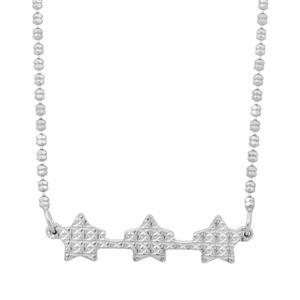 "18"" Sterling Silver Altro Diamond Cut Star Necklace 3.95g"