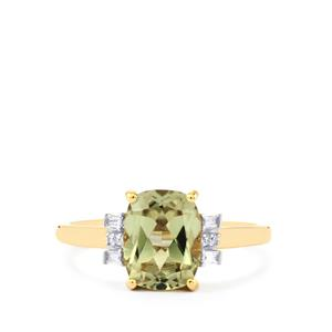 Csarite® Ring with Diamond in 18k Gold 2.53cts
