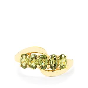 1.65ct Ambanja Demantoid Garnet 9K Gold Ring