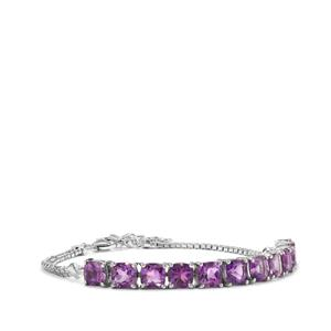 Moroccan Amethyst Bracelet in Sterling Silver 9.93cts