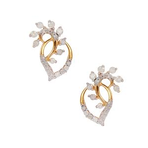 Diamond Earrings in Gold Plated Sterling Silver 0.58ct