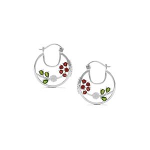 Kaleidoscope Gemstone Earrings in Sterling Silver 3.31cts