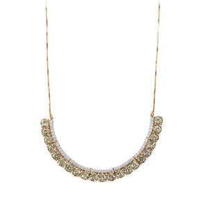 Csarite® Necklace with Ceylon White Sapphire in 9k Gold 13.24cts