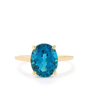 4.51ct Marambaia London Blue Topaz 10K Gold Ring