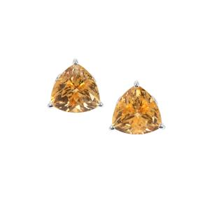 Diamantina Citrine Earrings in Sterling Silver 3.80cts
