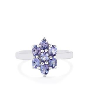 1.23ct Tanzanite Sterling Silver Ring