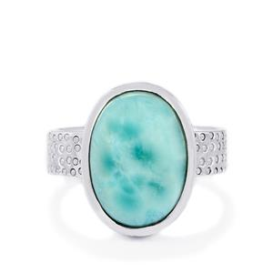 6.73ct Larimar Sterling Silver Ring
