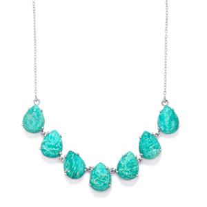 Amazonite Necklace in Sterling Silver 46.26cts