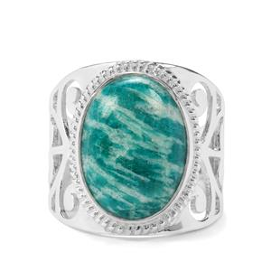 7.84ct Amazonite Sterling Silver Aryonna Ring