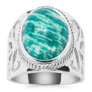 Amazonite Ring in Sterling Silver 7.84cts