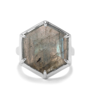 Labradorite Ring in Sterling Silver 10cts