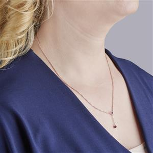 Amethyst Slider Necklace in Rose Gold Vermeil 0.22cts