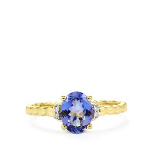 AA Tanzanite Ring with Diamond in 10K Gold 1.19cts