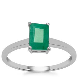 Carnaiba Brazilian Emerald Ring in Sterling Silver 0.96ct
