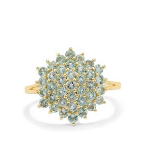 1.15ct Aquaiba™ Beryl 9K Gold Ring