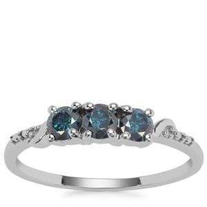 Blue Diamond Ring in 9K White Gold 0.58ct