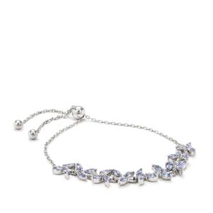Tanzanite Slider Bracelet in Sterling Silver 2.36cts