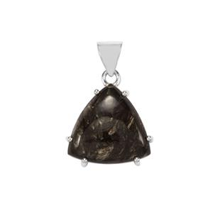 Siberian Seraphinite Pendant in Sterling Silver 16cts
