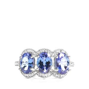 AA Tanzanite Ring in 9K White Gold 2.34cts