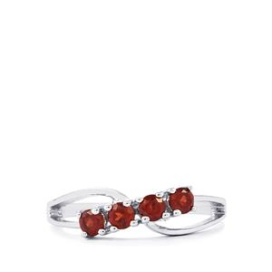 0.62ct Garnet Sterling Silver Ring