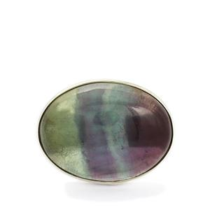 18.01ct Argentine Rainbow Fluorite Sterling Silver Aryonna Ring