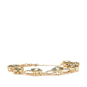 Csarite® Bracelet with Diamond in 18K Gold 14.16cts