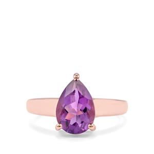 2.59ct Zambian Amethyst Rose Midas Ring