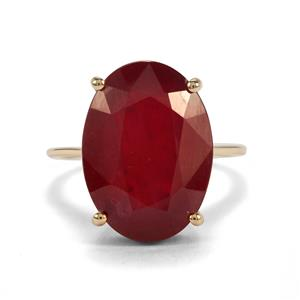 Malagasy Ruby Ring in 9K Gold 17.91cts (F)