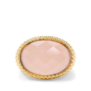 11.62cts Pink Chalcedony Midas Ring