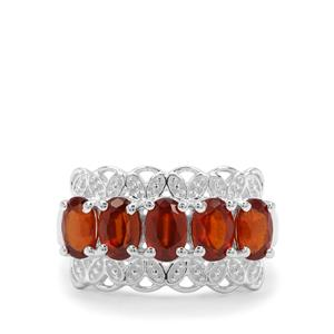 Gooseberry Grossular Garnet Ring in Sterling Silver 2.91cts
