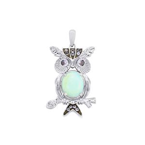Amhara Opal Pendant with Tanzanite in Sterling Silver 3.22cts