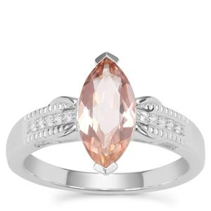 Galileia Topaz Ring with White Zircon in Sterling Silver 1.84cts