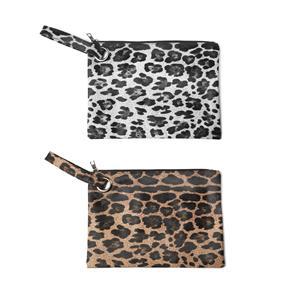 Destello Leopard Print Envelope Clutch Bag