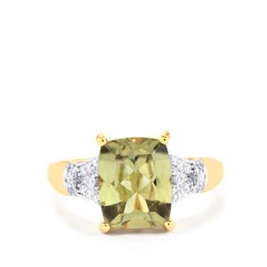 Csarite® Ring with Diamond in 18k Gold 3.87cts