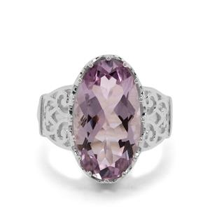 Rose De France Amethyst Ring in Sterling Silver 10cts