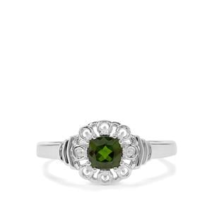 Chrome Diopside & Diamond Sterling Silver Ring ATGW 0.68cts