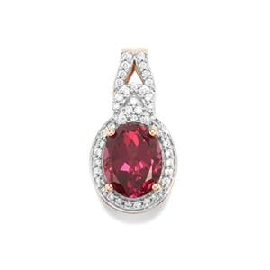 Umbalite Pendant with Diamond in 18K Rose Gold 3.29cts