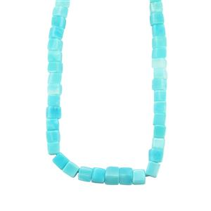 Peruvian Blue Opal Graduated Bead Necklace in Sterling Silver 212.10cts