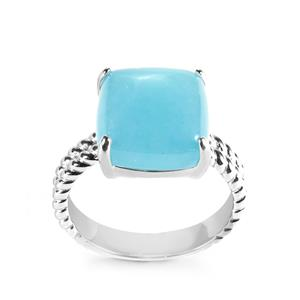 Blue Jade Ring in Sterling Silver 9.62cts