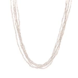 White Moonstone & Labradorite Sterling Silver Magnetic Lock Necklace ATGW 138.33cts