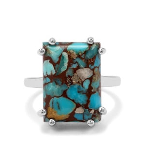 12.77ct Egyptian Turquoise Sterling Silver Ring