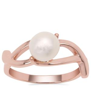 Kaori Cultured Pearl Ring in Rose Gold Plated Sterling Silver (7mm)