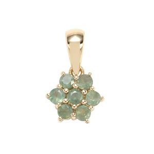 Alexandrite Pendant in 9K Gold 0.68ct