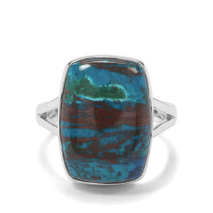 15.53ct Chrysocolla Sterling Silver Aryonna Ring