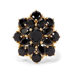10.20ct Black Spinel Midas Ring