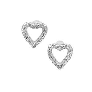 Diamond Earrings in Sterling Silver 0.11ct