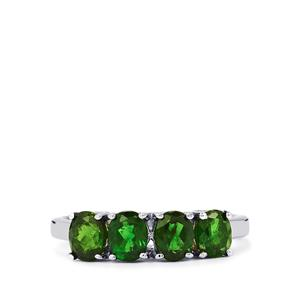 1.53ct Chrome Diopside Sterling Silver Ring